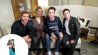 Jennifer Lawrence, Josh Hutcherson & Liam Hemsworth play Hungry Hippos