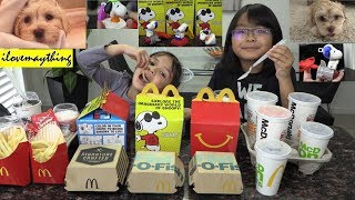 McDonald's Happy Meal Toys Unboxing, Giving Puppies a Bath, Puppies at the Park and PS4 Game
