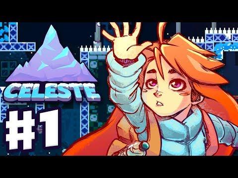 Celeste - Gameplay Walkthrough Part 1 - Chapter 1: Forsaken City 100%! All Strawberries and B-Side!