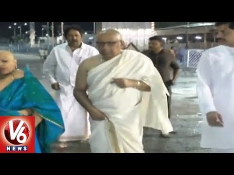 Telugu States High Court Chief Justice Radhakrishnan Offers Special Prayers At Tirumala | V6 News