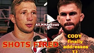 SHOTS FIRED!  Cody Garbrandt finally addresses TJ Dillashaw!