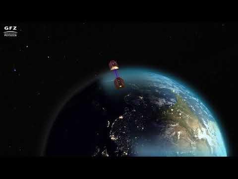Animation des Satelliten-Duos GRACE-FO