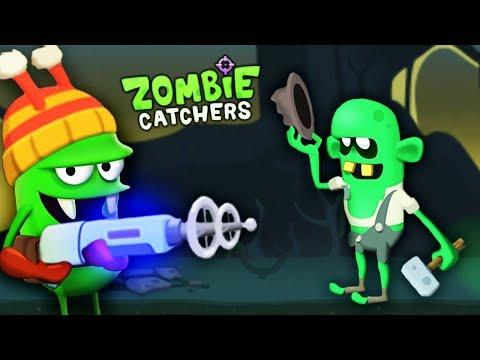 ОХОТА НА ЗОМБИ С ПУШКОЙ ТЕСЛЫ Мультяшная игра для детей Zombie Catchers