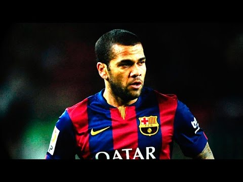 Dani Alves ● All 7 Assists in Barcelona 2014-15