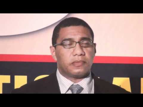 Andrew Holness, Minister of Education, speaking at the Launch of SkillsWeek Jamaica 2010