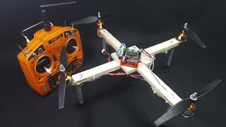 Chế Quadcopter 350 Brushless với gỗ balsa