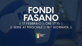 Serie A1M [18^]: Fondi - Fasano 27-20