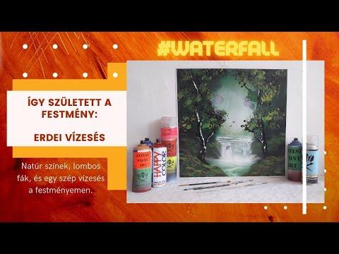 Green Landscape Spray Paint Art by Janesz
