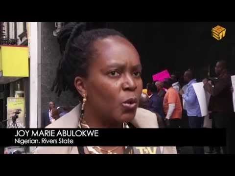 Protest At Nigerian Consulate In New York Over Missing Female Students video