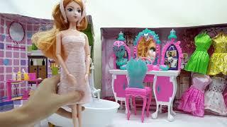 Mở Hộp Đồ Chơi Búp Bê Barbie Phòng Tắm - Bathroom Dolls