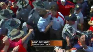 Clemson coach Dabo Swinney got an extra kick out of ending No. 21 Auburn