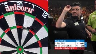 2015 Dutch Darts Masters Final   Michael Van Gerwen V Justin Pipe (HD)