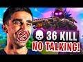 NO TALKING CHALLENGE in Fortnite Battle Royale (FUNNY)