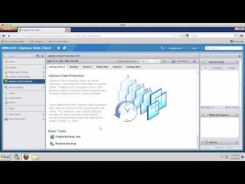 VDP Creating Virtual Machine Backup Job - VMware vSphere Data Protection