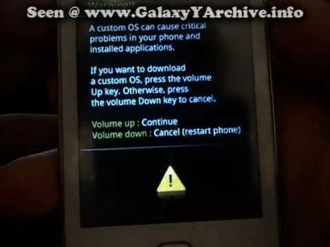 Flashing stock ROM on Samsung Galaxy Y