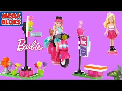 Barbie Mega Bloks Barbie Build N Play Scooter with Barbie Doll