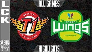 SKT vs JAG Highlights ALL GAMES | LCK Week 6 Spring 2018 W6D5 SK Telecom T1 vs Jin Air Greenwings 1