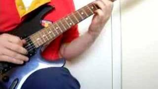 Fooling and playing on my guitar