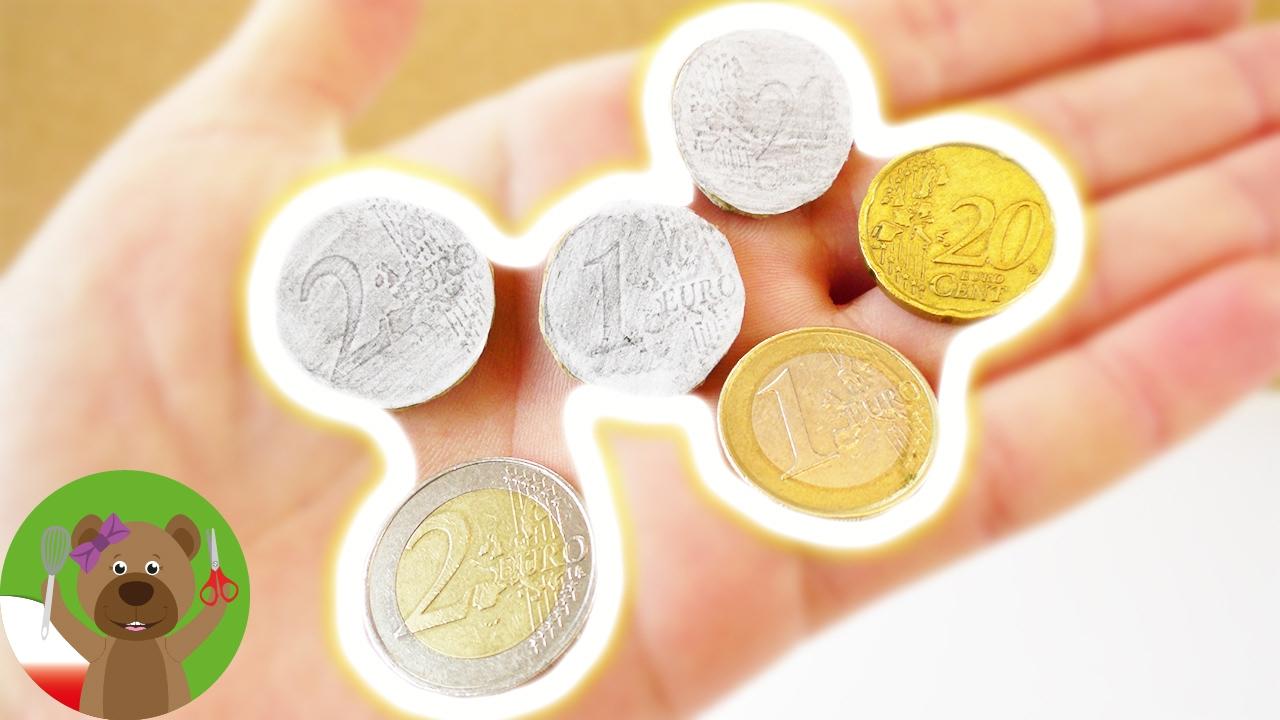Monety dla dzieci   prosty pomysł na zrobienie monet do zabawy w sklep lub do gry planszowej