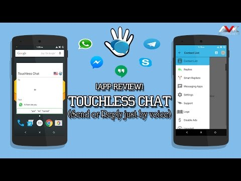 Touchless Chat App [Send or Reply Just by Voice] (Whatsapp , Messenger , Telegram, etc)