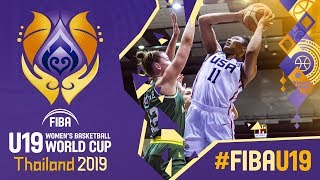 USA v Australia - Full Game - FIBA U19 Women's Basketball World Cup 2019