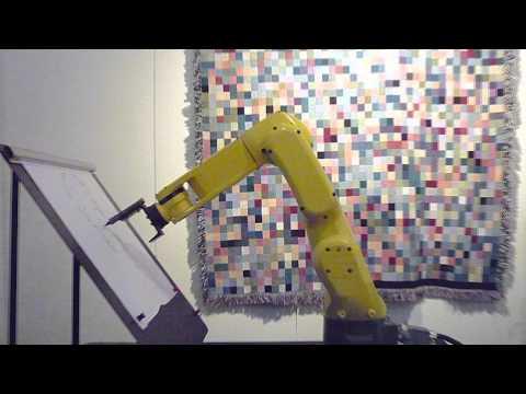 Artemis Vision with FANUC Robot @ Emmanuel Gallery – Portrait Drawing Demo
