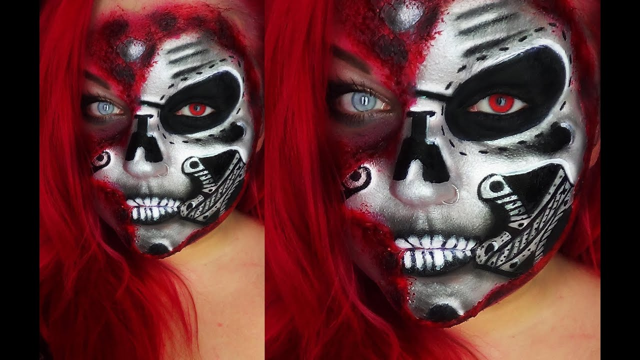 Cyborg Face Makeup Half Robot Cyborg Face