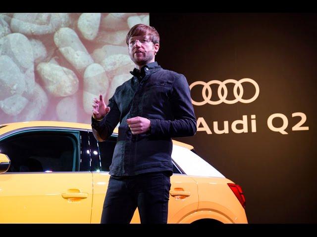 《Audi Q2新車発表会》AUDI AG Audi Q2エクステリアデザイナー マティアス フィンクによるプレゼンテーション