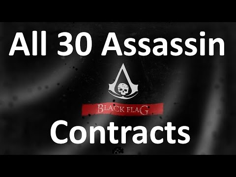"""Assassin's Creed 4: Black Flag"" walkthrough (100% synchronization), All 30 Assassin Contracts,60FPS"