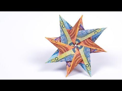 Basteln Zu Weihnachten Einfache Stern Windlichter Falten Aus Papier