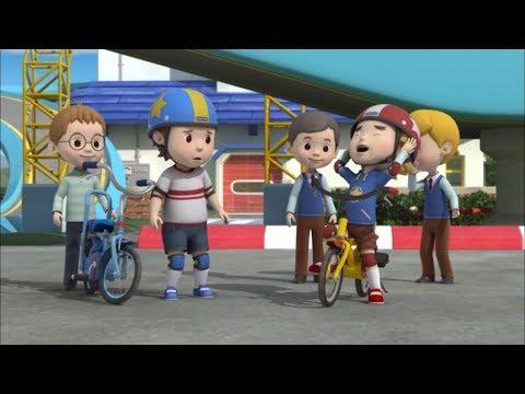 Робокар Поли -  Правила дорожного движения (серия 18) - Безопасная езда на велосипеде Часть 2