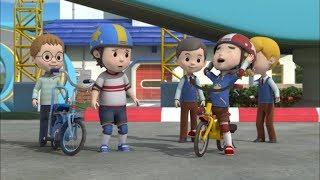 Робокар Поли - Правила дорожного движения - Безопасная езда на велосипеде Часть 2 (мультфильм 18)