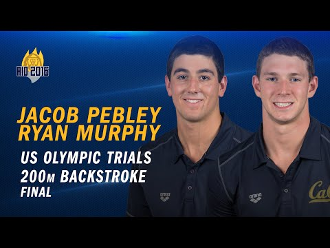 Cal Men's Swimming: Ryan Murphy & Jacob Pebley - US Olympic Trials (100 backstroke final)