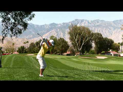 NA YEON CHOI (NYC): Slow-motion iron shot from rough