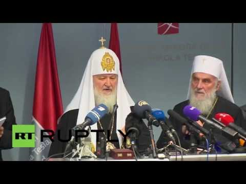 Serbia: Russian Patriarch Kirill arrives in Belgrade