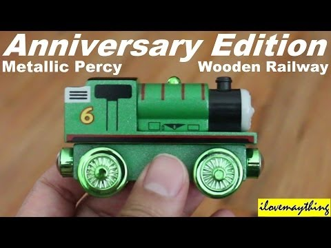 Thomas & Friends: Anniversary Metallic Edition Wooden Railway Percy video