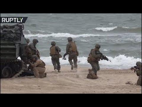 US marines join beach landing drills in Poland