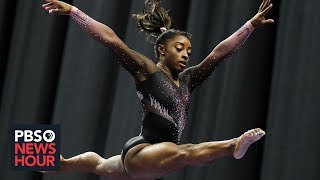 With unprecedented moves, Simone Biles cements her 'transcendent' legacy