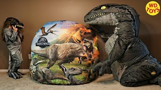 New Worlds Biggest Jurassic World Giant Surprise Dinosaur Egg Fallen Kingdom Dinosaur Toys Unboxing