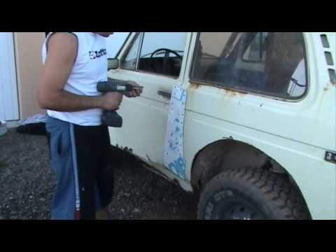 How not to repair Lada Niva door