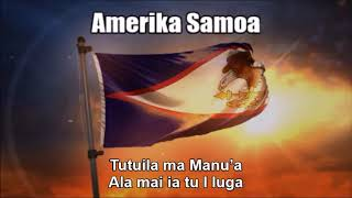 National Anthem of American Samoa (Amerika Samoa) - Nightcore Style With Lyrics