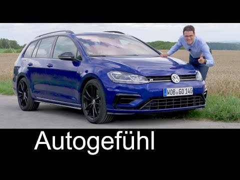 Volkswagen Golf R Variant FULL REVIEW 310 hp VW estate Kombi 2018 - Autogefühl