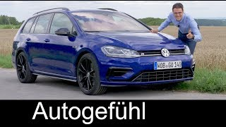 Volkswagen Golf R Variant FULL REVIEW 310 hp VW estate Kombi 2018 - Autogefühl