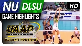 NU vs DLSU | Game Highlights | UAAP 79 WV | March 12, 2017