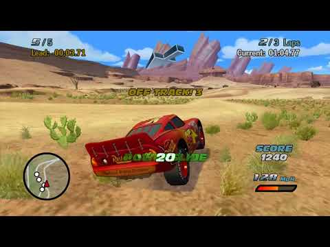 Sneak JR Cars 1 the Movie Game 360 Lightning Mcqueen's Road to the Piston Cup Sleepy Races #7