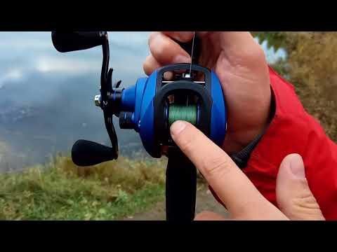 видео мультипликаторной катушки и ловля на нее