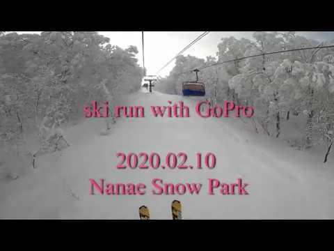 ski run with GoPro