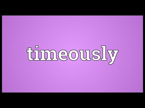 Header of timeously