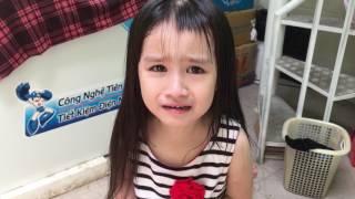 Bé Gái 4 tuổi tự lấy kéo cắt tóc 31/5/2017