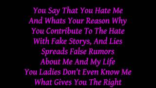 Miss Lady Pinks 'Haters' w/lyrics